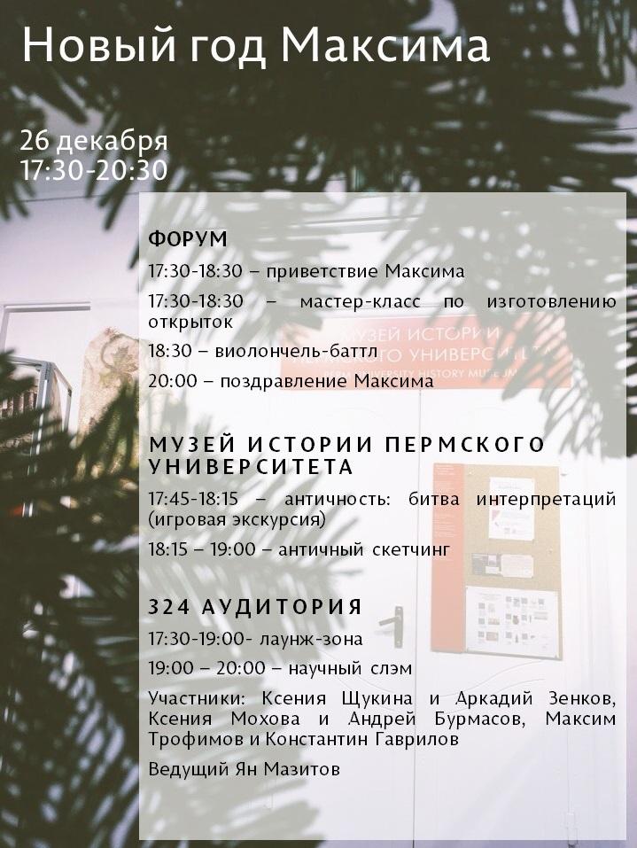 Новый год Максима